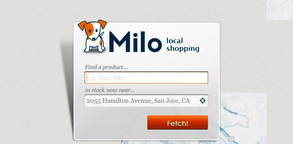Milo shopping search engine