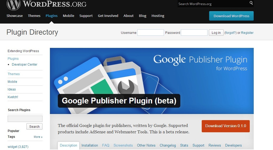 Google wordpress plugin
