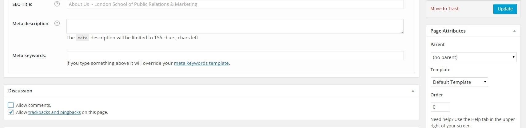 Leave a reply form removal -Wordpress step 2 uncheck allow comments on Page