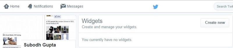 Twitter how to create widget