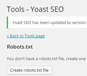 Creat robots txt file in yoast plugin