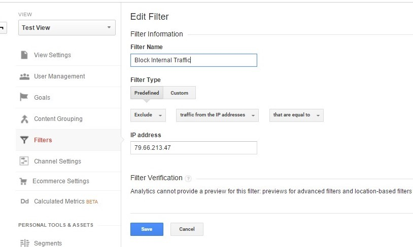 How to filter or exclude internal traffic from Google Analytics