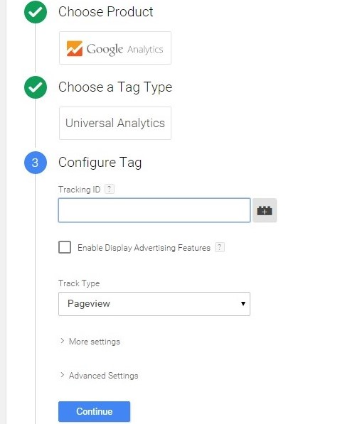 Installing Google Analytics tag into Google Tag manager 2