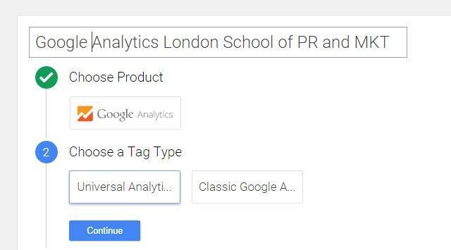 Installing Google Analytics tag in Google Tag manager 1