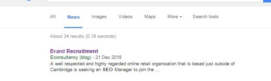 Google News job posting Brand Recruitment in NEWS